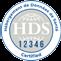 Logo  du certificat d'Hébergement de Données de Santé